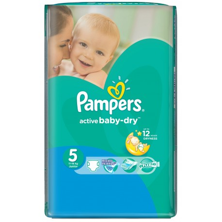 28 Couches Pampers Active Baby Dry Taille 5 Moins Cher Sur Le Roi De